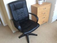 black leather office chair free to good home