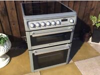 60CM WIDE HOTPOINT CERAMIC COOKER WITH SEPARATE OVEN AND GRILL CAN DELIVER.....