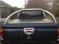 L200 chrome roll bar and roll and lock cover