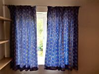 NEXT curtains and matching single duvet set