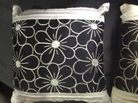 Black & White curtains (lined) with matching cushions