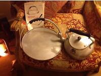 Scottish griddle and kettle