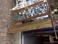 Vintage heavy cast iron bench