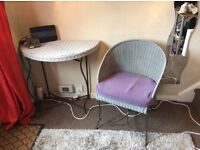Wicker table and chair willing to part
