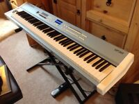 Kurzweil Stage Piano 3X with bundle of stand, pedal, stool and wheelie Gator piano case