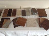 Wood and laminated samples Free