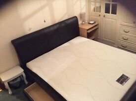 Super king mattress and bed frame for sale. £150 ono
