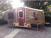 Dandy Trailer Tent 1980's to include retro kit and soft furniture.