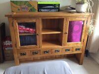 Solid Oak unit....(top half of a dresser!)