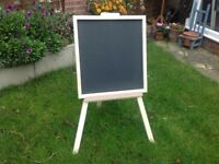 Notice board with easel