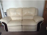 2 Reclining Leather 2 seater Sofa's