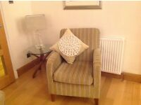 Marks and Spencer Armchair in Stripe Fabric