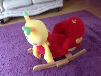 Rocking caterpillar toy, with box, perfect condition