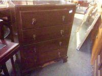 Vintafe oak chest of drawers