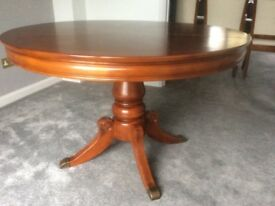Dining table - extendable and four chairs