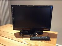 TV 19 inches with built in DVD player. In excellent condition, with remote. Collection only. £35 ONO