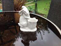 Rabbit pot garden ornament