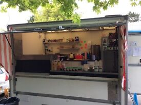 Burger van for sale is on a pitch and ready for use