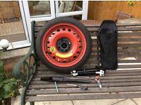 "Vauxhall 14"" Space Saver Wheel & Tool Kit"