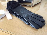 Jacques vert leather gloves new with tags S/M