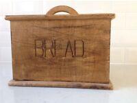 Wooden bread bin