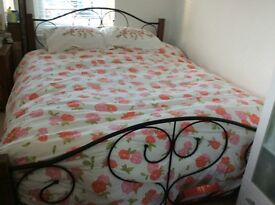King size bed and mattress in good condition
