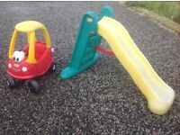 Little Tikes car & slide and Trike