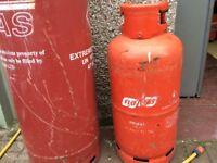 Gas bottle empty