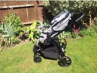 Glide pram/buggy bundle - with bassinet, buggy seat and car seat