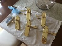 Solid brass handles