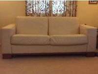 Dfs cream leather sofa bed