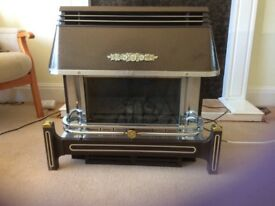 Gas fire with electric coal effect