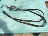 Various pieces of leather tack