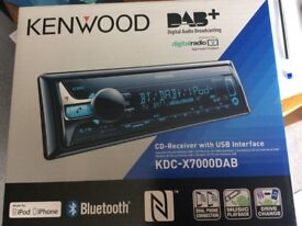 KENWOOD KDC-X7000DAB CD Receiver with Bluetooth and DAB radio