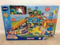 V tech toot toot train set, in box stickers still to put on