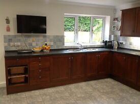Used Kitchen units with solid wood doors