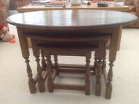 Nest of Quality Oak Tables