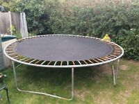 Big trampoline for outdoor fun