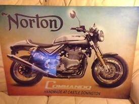 Norton Commando 961 enamelled sign...