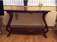 Solid oak large hall table.