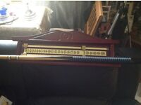 Snooker Score Board in Mahogany and Brass mint condition