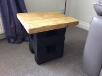 Rustic low level occasional table
