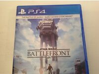 PlayStation 4 PS4 boxed with 4 games and an official controller. Games include Star Wars Battlefront