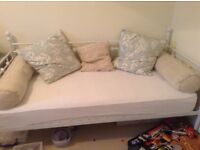 White metal day bed and mattress, good as new.