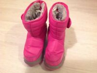 Pink fur lined snow boots infant size 11