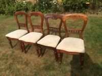 4 vintage balloon back chairs