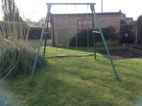 Two seater garden swing