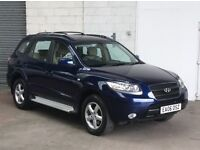 HYUNDAI SANTA FE GSI 2006 2.2CRTD 2WD BLUE ONLY 63,000 MILES F/S/H, NEW CLUTCH AND FLYWHEEL,