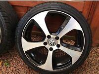 Alloy wheels and tyres 18 inch Volkswagen Golf