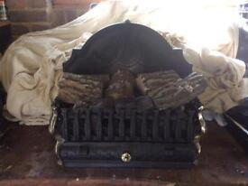 Gas fire basket